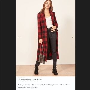 Reformation Jackets & Coats - NWT Reformation Middlebury wool coat
